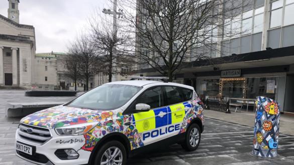police car LGBT kev munday posca