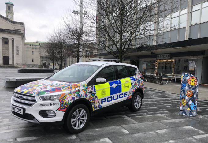 police car LGBT kev munday posca