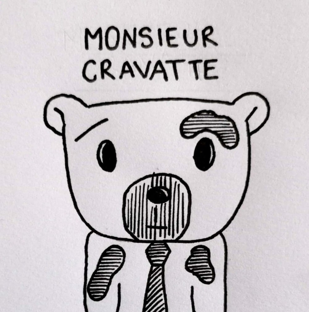 mr. cravatte illustration posca