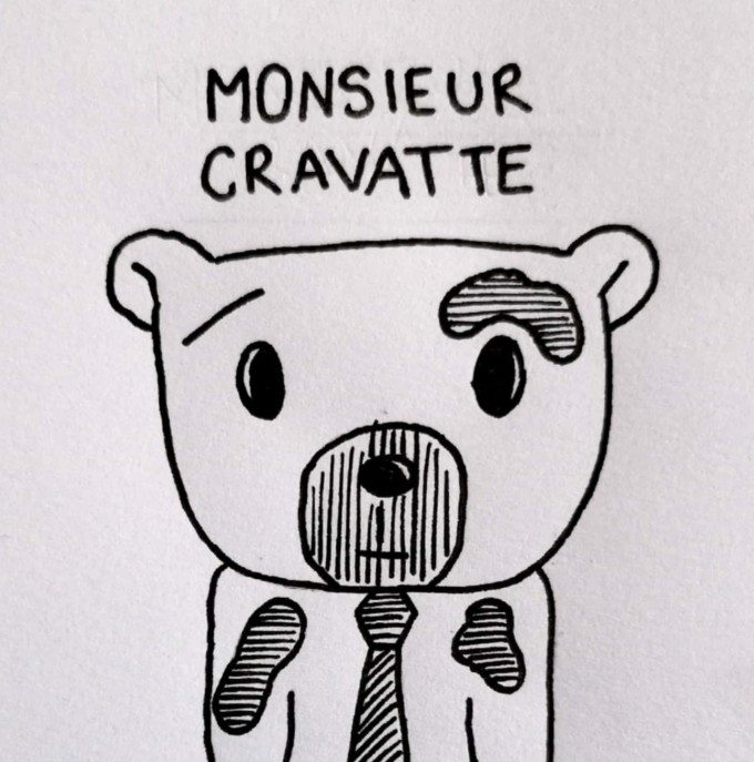 mr. cravatte illustration posca